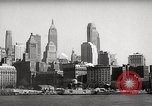 Image of skyscrapers Ellis Island New York USA, 1948, second 25 stock footage video 65675032740