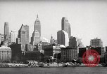 Image of skyscrapers Ellis Island New York USA, 1948, second 26 stock footage video 65675032740
