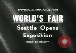 Image of Worlds Fair opening ceremony Seattle Washington USA, 1962, second 2 stock footage video 65675032765