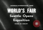 Image of Worlds Fair opening ceremony Seattle Washington USA, 1962, second 3 stock footage video 65675032765
