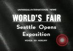 Image of Worlds Fair opening ceremony Seattle Washington USA, 1962, second 4 stock footage video 65675032765