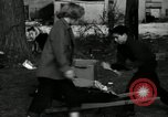 Image of People cleaning up a lot for use as a playground Monroe New York USA, 1950, second 7 stock footage video 65675032772