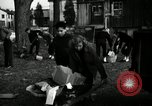 Image of People cleaning up a lot for use as a playground Monroe New York USA, 1950, second 19 stock footage video 65675032772