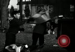 Image of People cleaning up a lot for use as a playground Monroe New York USA, 1950, second 21 stock footage video 65675032772
