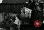 Image of People cleaning up a lot for use as a playground Monroe New York USA, 1950, second 32 stock footage video 65675032772