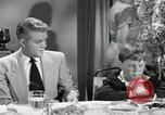 Image of American family celebrating Thanksgiving Day United States USA, 1954, second 8 stock footage video 65675032791