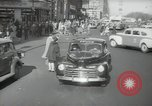 Image of New York City police car driving in midtown Manhattan New York City USA, 1939, second 15 stock footage video 65675032802