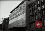 Image of paintings in exhibition New York City USA, 1950, second 52 stock footage video 65675032805