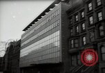 Image of paintings in exhibition New York City USA, 1950, second 56 stock footage video 65675032805