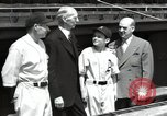 Image of Connie Mack with sons and grandson Philadelphia Pennsylvania USA, 1946, second 45 stock footage video 65675032811