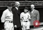 Image of Connie Mack with sons and grandson Philadelphia Pennsylvania USA, 1946, second 46 stock footage video 65675032811