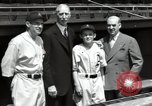 Image of Connie Mack with sons and grandson Philadelphia Pennsylvania USA, 1946, second 48 stock footage video 65675032811