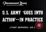 Image of US Army war practice before World War 2 Fort Benning Georgia USA, 1938, second 3 stock footage video 65675032863