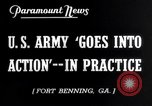 Image of US Army war practice before World War 2 Fort Benning Georgia USA, 1938, second 5 stock footage video 65675032863