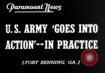 Image of US Army war practice before World War 2 Fort Benning Georgia USA, 1938, second 7 stock footage video 65675032863