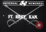 Image of parade Fort Riley Kansas USA, 1941, second 3 stock footage video 65675032897