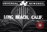 Image of cargo vessel Long Beach California USA, 1941, second 3 stock footage video 65675032898