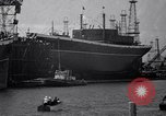 Image of cargo vessel Long Beach California USA, 1941, second 5 stock footage video 65675032898