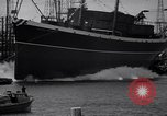 Image of cargo vessel Long Beach California USA, 1941, second 22 stock footage video 65675032898
