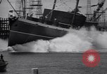 Image of cargo vessel Long Beach California USA, 1941, second 23 stock footage video 65675032898