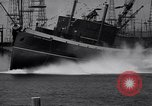 Image of cargo vessel Long Beach California USA, 1941, second 24 stock footage video 65675032898