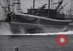 Image of cargo vessel Long Beach California USA, 1941, second 26 stock footage video 65675032898