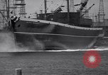 Image of cargo vessel Long Beach California USA, 1941, second 27 stock footage video 65675032898