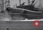 Image of cargo vessel Long Beach California USA, 1941, second 29 stock footage video 65675032898