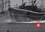 Image of cargo vessel Long Beach California USA, 1941, second 30 stock footage video 65675032898