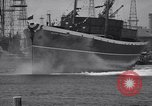 Image of cargo vessel Long Beach California USA, 1941, second 31 stock footage video 65675032898