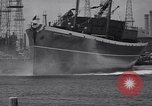 Image of cargo vessel Long Beach California USA, 1941, second 32 stock footage video 65675032898