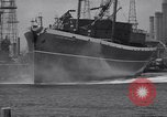 Image of cargo vessel Long Beach California USA, 1941, second 33 stock footage video 65675032898