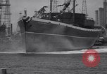 Image of cargo vessel Long Beach California USA, 1941, second 34 stock footage video 65675032898