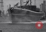 Image of cargo vessel Long Beach California USA, 1941, second 35 stock footage video 65675032898