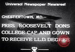 Image of Franklin D Roosevelt Chestertown Maryland USA, 1933, second 3 stock footage video 65675032943