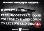 Image of Franklin D Roosevelt Chestertown Maryland USA, 1933, second 6 stock footage video 65675032943
