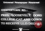 Image of Franklin D Roosevelt Chestertown Maryland USA, 1933, second 7 stock footage video 65675032943