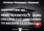 Image of Franklin D Roosevelt Chestertown Maryland USA, 1933, second 9 stock footage video 65675032943