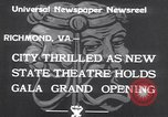 Image of States Theater Richmond Virginia USA, 1933, second 5 stock footage video 65675032949