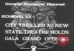 Image of States Theater Richmond Virginia USA, 1933, second 8 stock footage video 65675032949