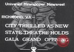 Image of States Theater Richmond Virginia USA, 1933, second 9 stock footage video 65675032949