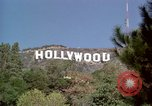 Image of Hollywood sign Hollywood Los Angeles California USA, 1976, second 28 stock footage video 65675033261