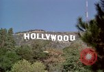 Image of Hollywood sign Hollywood Los Angeles California USA, 1976, second 32 stock footage video 65675033261