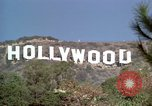 Image of Hollywood sign Hollywood Los Angeles California USA, 1976, second 42 stock footage video 65675033261