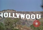 Image of Hollywood sign Hollywood Los Angeles California USA, 1976, second 15 stock footage video 65675033262