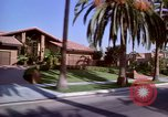 Image of Palm tree lined street in neighborhood Los Angeles California USA, 1976, second 10 stock footage video 65675033263