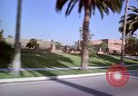 Image of Palm tree lined street in neighborhood Los Angeles California USA, 1976, second 13 stock footage video 65675033263