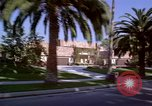 Image of Palm tree lined street in neighborhood Los Angeles California USA, 1976, second 16 stock footage video 65675033263