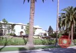 Image of Palm tree lined street in neighborhood Los Angeles California USA, 1976, second 32 stock footage video 65675033263