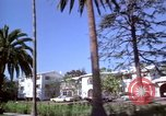 Image of Palm tree lined street in neighborhood Los Angeles California USA, 1976, second 36 stock footage video 65675033263
